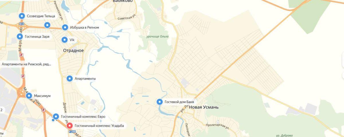 Гостиницы около Воронежа
